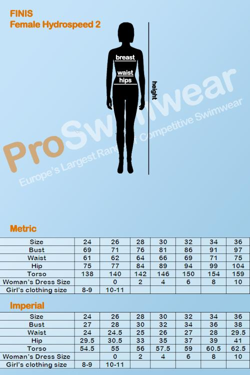 Finis Hydrospeed 2 Women's Size Guide