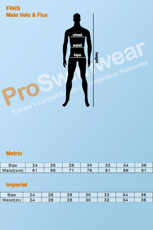 Finis Velo & Flux Men's Size Guide