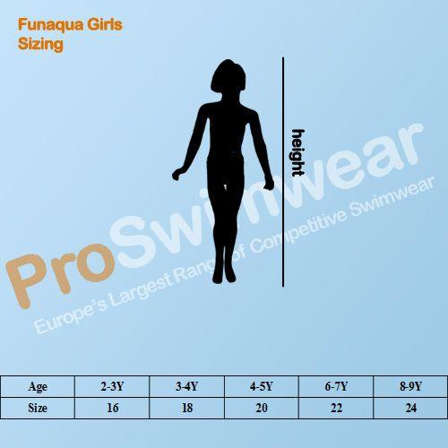 FunAqua Girl's Size Guide