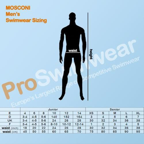 Mosconi Men's Size Guide