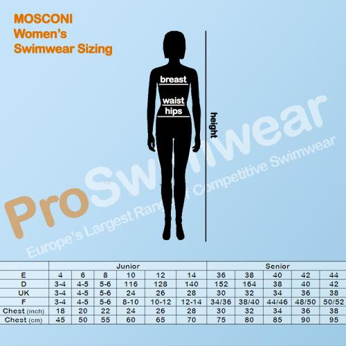 Mosconi Women's Size Guide