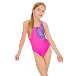 Zoggs Girls Bold Baroque Rowleeback Swimsuit