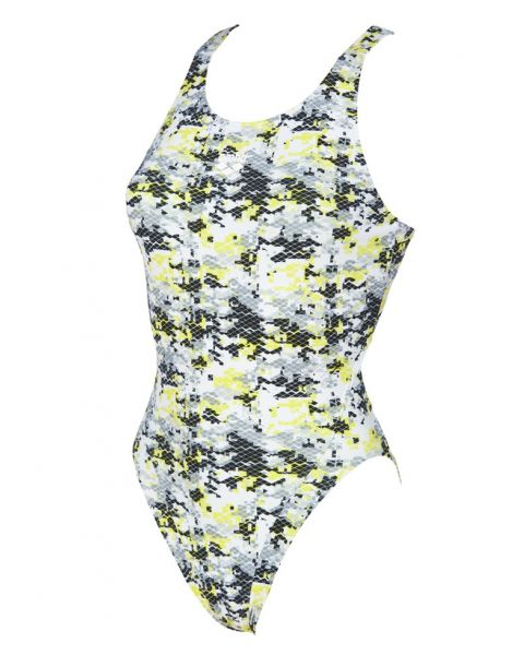 Arena Womens Camouflage Tech Swimsuit - Black