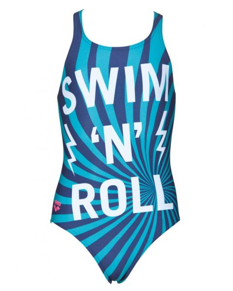 Arena Kids Swim and Roll Swimsuit Navy