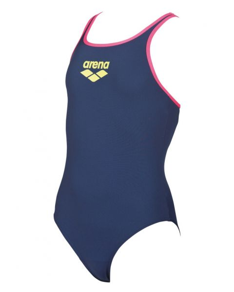 Arena Kids Big Logo Swimsuit Navy