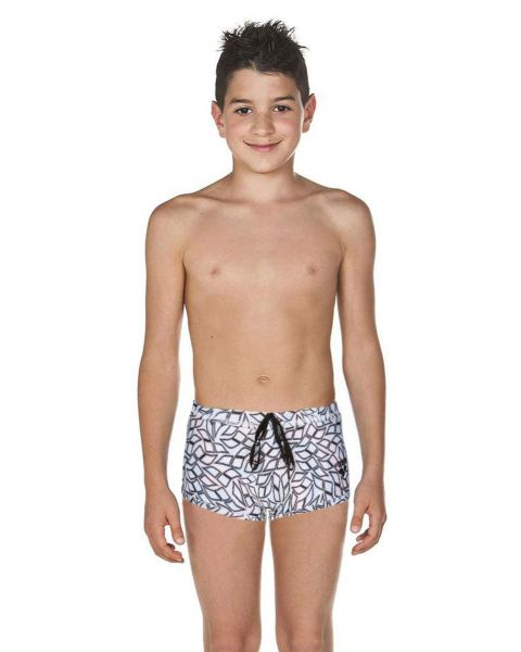 Arena Boy's Spirograph Reversible Low Waist Short - Black / Multi