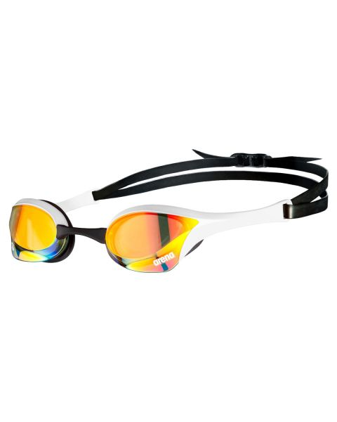 Arena Cobra Ultra Swipe Mirrored Goggles - Yellow Copper / White