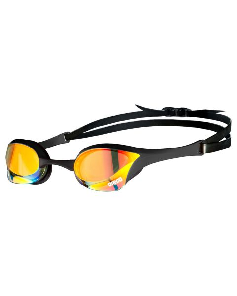 Arena Cobra Ultra Swipe Mirrored Goggles - Yellow Copper / Black