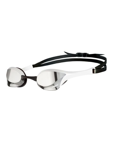 Arena Cobra Ultra Swipe Mirrored Goggles - Silver / White