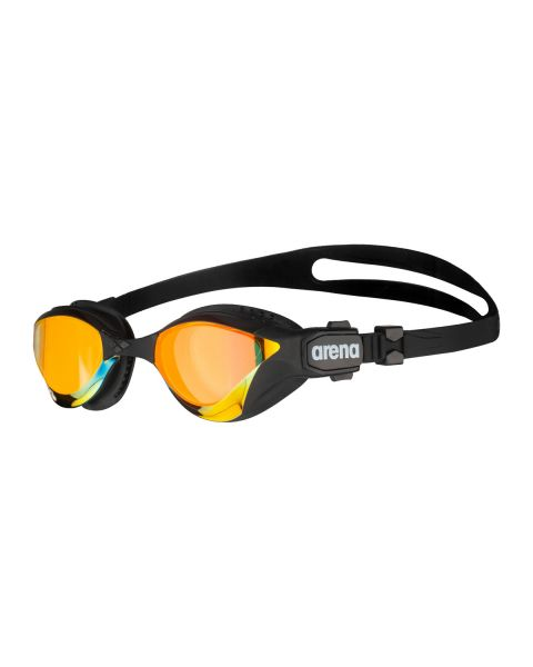 Arena Cobra Tri Swipe Tri Mirrored Goggles - Yellow Copper / Black