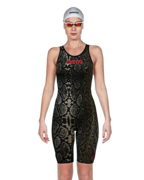 Arena Powerskin Carbon Air² Limited Edition Openback Kneesuit - Black Python