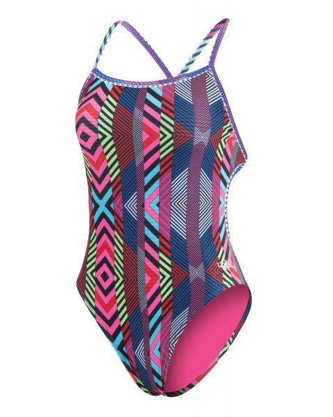 Dolfin Uglies Girls Revibe Diamond Tie Back Swimsuit