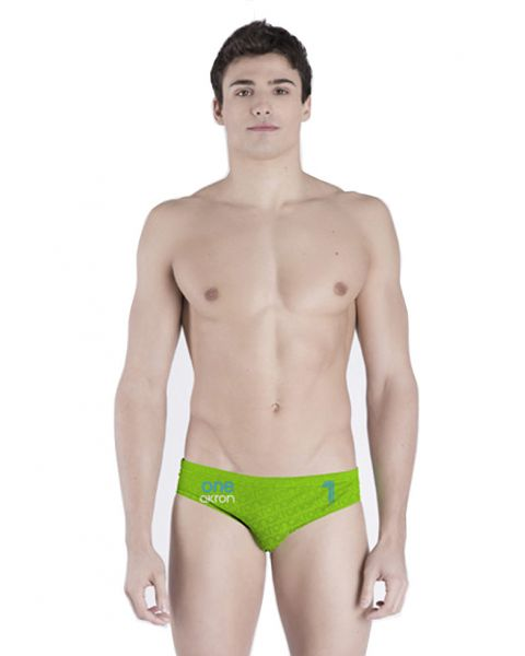 Akron Men's Adi One Brief - Green / Blue