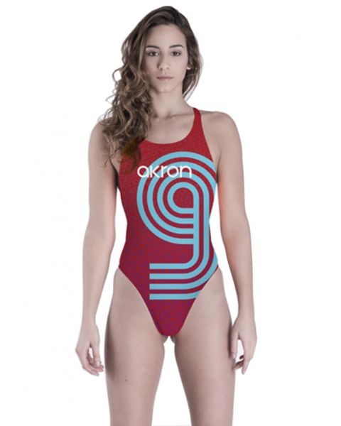 Akron Women's Adi Nine Swimsuit - Red / Blue
