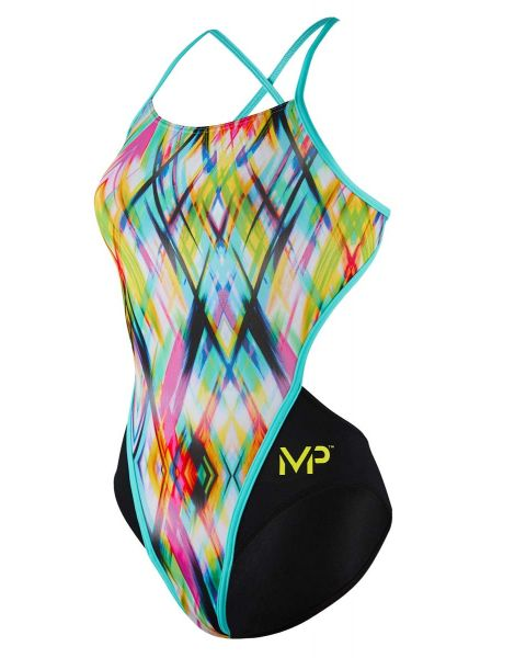 MP Michael Phelps Girl's Candy Openback Swimsuit
