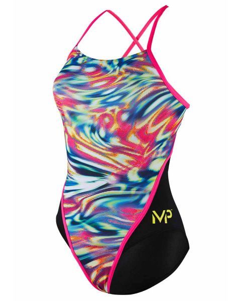 MP Michael Phelps Ragazze Wave Racerback Costume da Nuoto