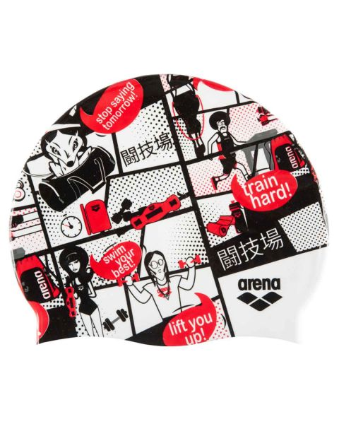 Arena Print II Silicone Cap - Comics Race Red