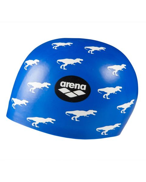 Arena Poolish Moulded Silicone Cap - Dino Blue