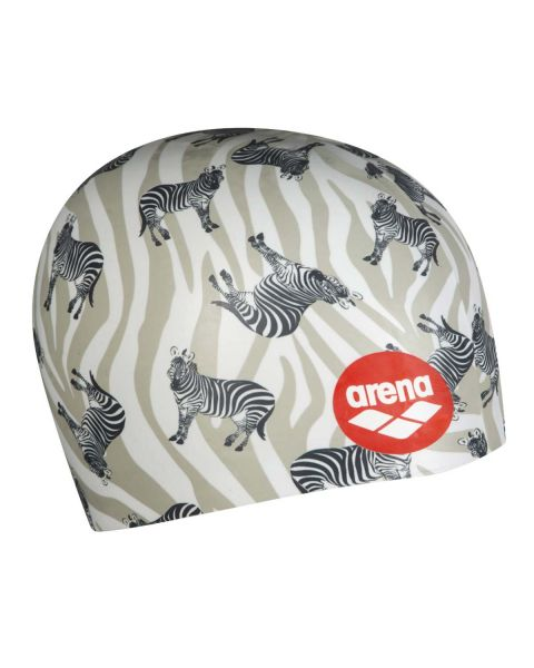 Arena Poolish Moulded Printed Zebras Touca de Natação - Multicolorido