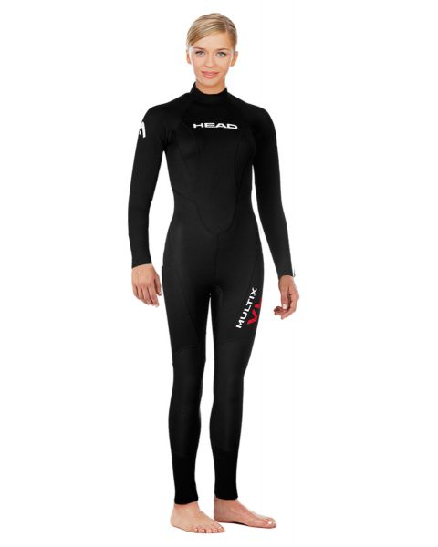 Head MultiSport Full Suit Womens - Black/Red