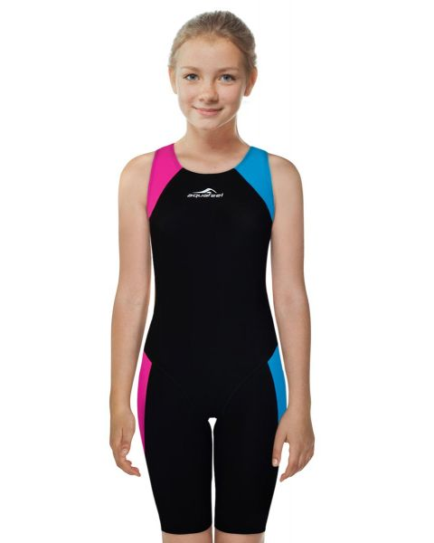 Aquafeel Girls Racing i-NOV Kneesuit - Blue / Black / Pink