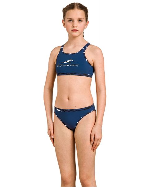 Aquafeel Mädchen  Night Waves Mini-cross back Schwimm-Bikini - Blau
