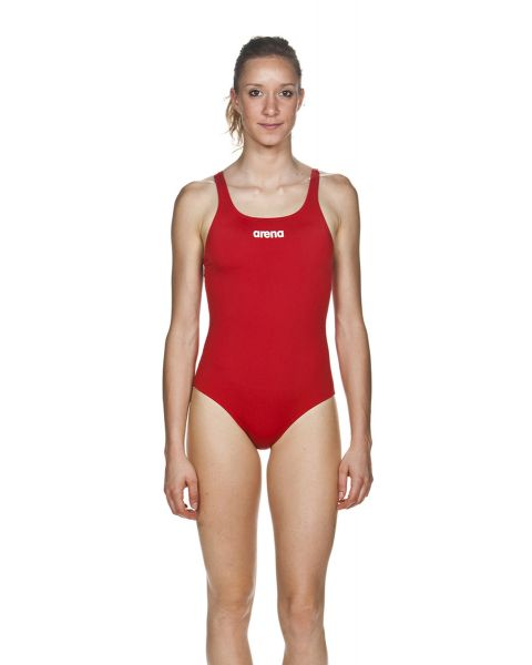 Arena Women's Solid Swim Pro Swimsuit - Red / White