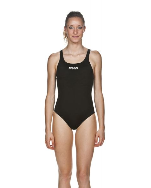 Arena Women's Solid Swim Pro Swimsuit - Black / White