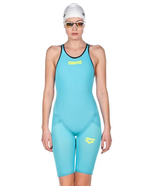 Arena Powerskin Carbon Flex VX Short Leg Open Back Turquoise