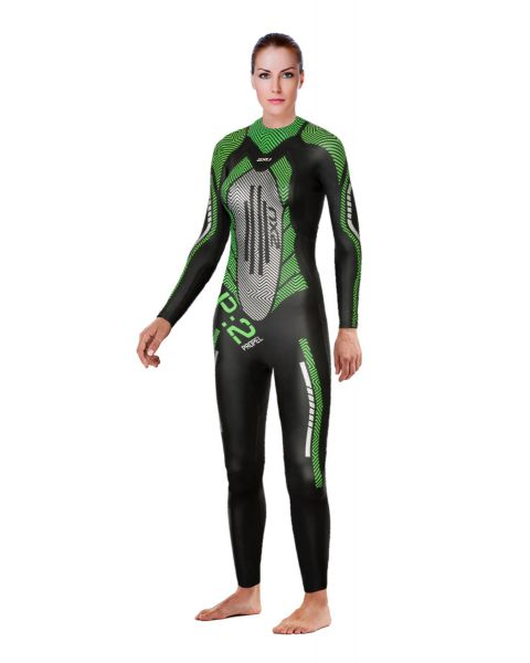 2XU Women's P:2 Propel Wetsuit - Black / Green
