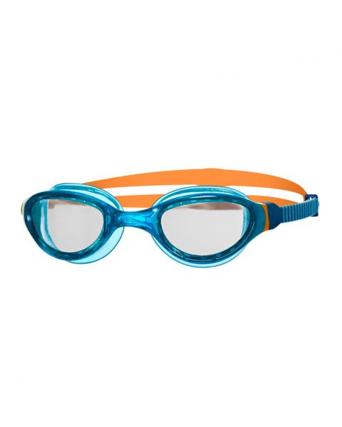 Zoggs Phantom 2.0 Ado Lunettes De Natation - Bleu  / Orange /  Transparent