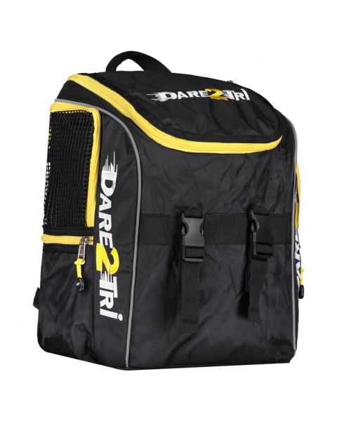 Dare2Tri Small Transition Backpack - Black / Yellow - 24L