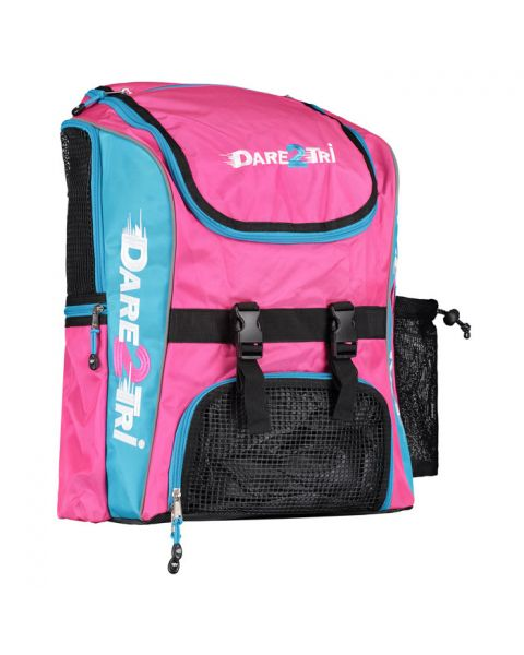 Dare2Tri Extra Large Transition Backpack - Pink / Blue - 46L