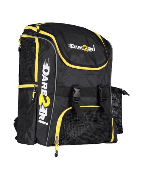 Dare2Tri Extra Large Transition Backpack - Black / Yellow - 46L