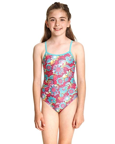 Zoggs Girl's Garden Party Yaroomba Floral Swimsuit