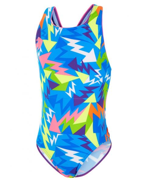 Maru Kids Lightning Strike Pacer Auto Back Swimsuit - Blue
