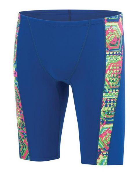 Dolfin Boys Reliance Hive Spliced Jammer - Royal Blue / Multi Pink