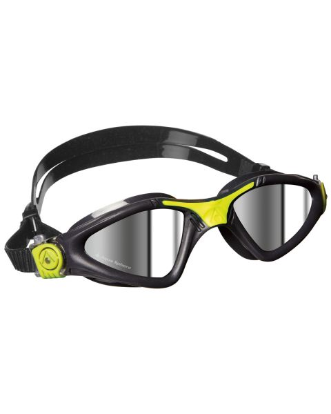 Aqua Sphere Kayenne Mirrored Goggles - Grey/Lime