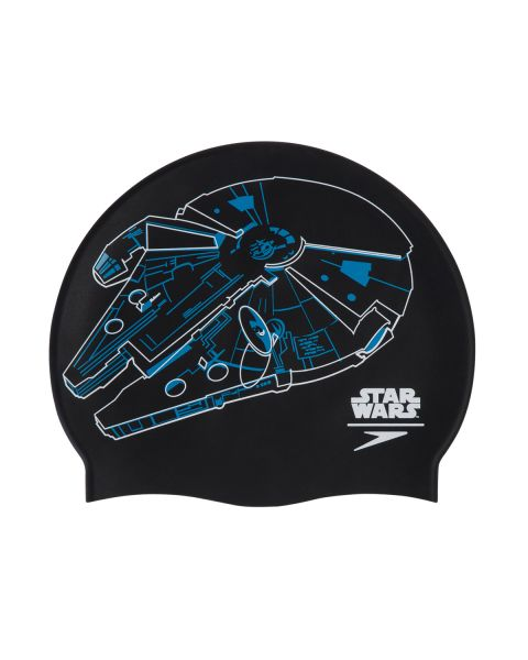 Speedo Star Wars Bonnet De Natation Falcon- Noir/ Blanc/ Bleu
