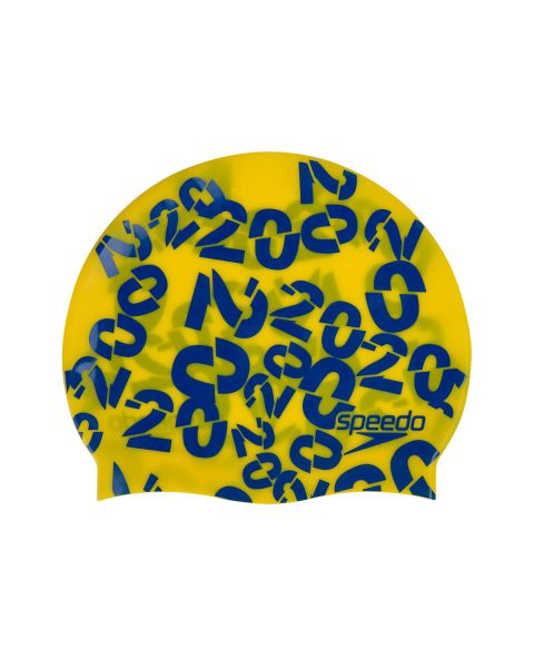 Speedo Júnior Slogan Touca de Natação - Beautiful Blue / Empire Amarelo