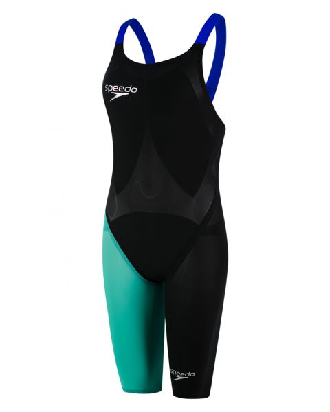 Speedo LZR Elite 2 Openback Kneeskin - Black / Tile / Beautiful Blue