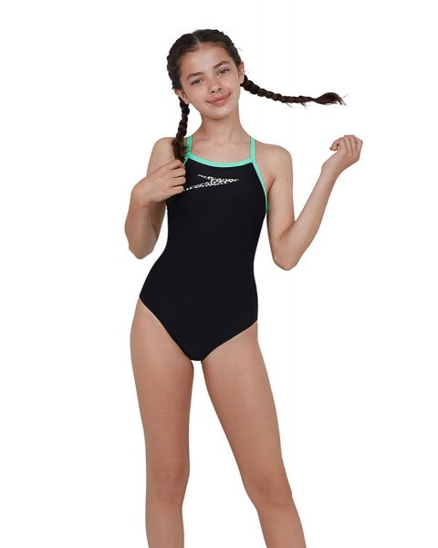 Speedo Filles Boom Placement Thinstrap Muscleback Maillot De Bain - Vert