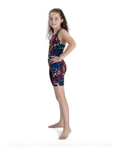 Speedo Girl's Fastskin Junior Endurance+ Kneesuit - Black / Beautiful Blue
