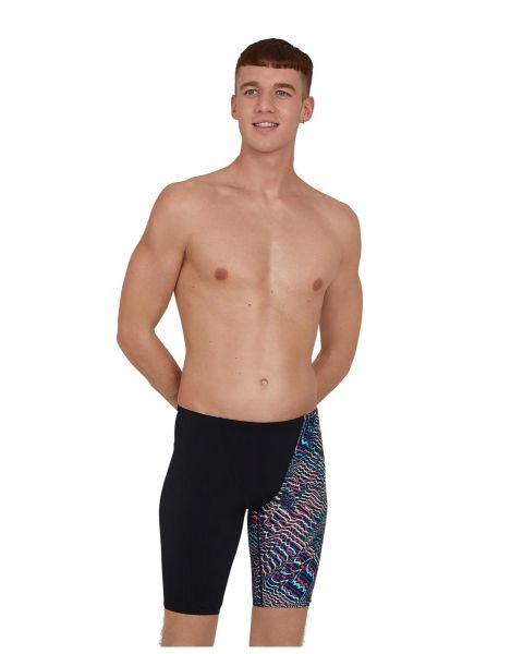 Speedo Hommes Allover Digital V-Cut Jammer De Natation - Noir