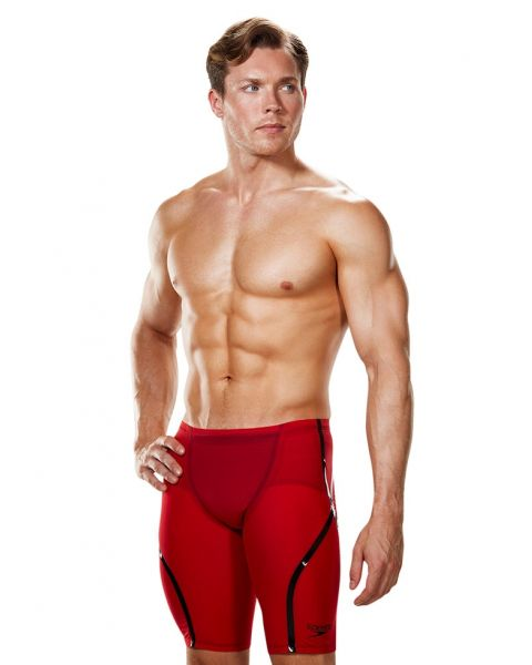 Speedo LZR Racer X High Waisted Jammers Fed Red / shiny Black Model Side