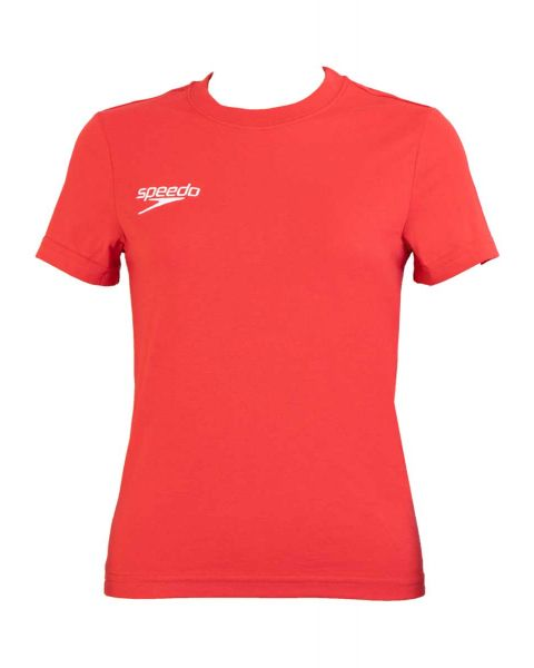 Speedo Team Kit Junior Small Logo T-Shirt - Red