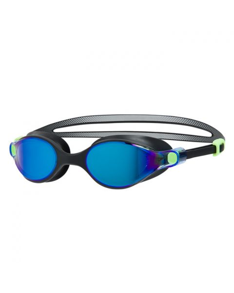 Speedo Virtue Mirror Female Goggles - Bright Zest / Black / Blue