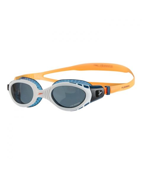Speedo Futura Biofuse Flexiseal Triathlon Goggles - Fluo Orange / White / Smoke