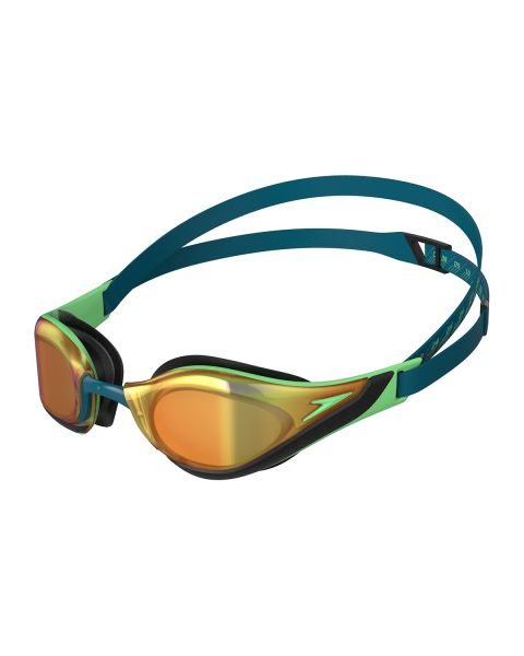 Speedo Fastskin Pure Focus Mirrored Goggles - Nordic Teal / Green Glow