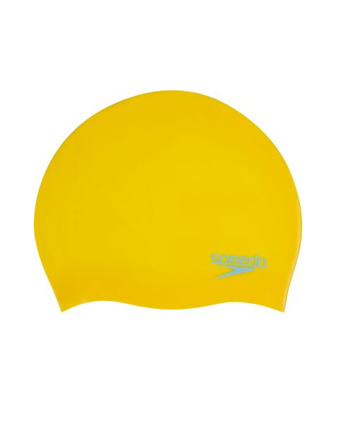 Speedo Plain Moulded Silicone Junior- Empire Jaune/ Chilli Bleu